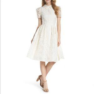 Gal Meets Glam Amelia Fit & Flare Midi Dress Sz 10